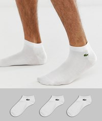 Lacoste Sport 3 Pack Trainer Sock In White