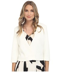 Nic Zoe Basket Weave Jacket Milk White Women's Coat