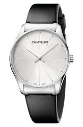 Calvin Klein Classic Leather Strap Watch 38Mm