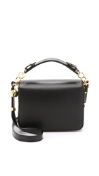 Sophie Hulme Structured Cross Body Messenger Bag Black