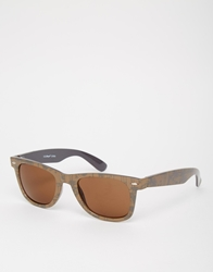 A. J. Morgan Aj Morgan Wayfarer Sunglasses With Palm Print Brown