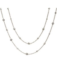 Annoushka Nectar Jasmine 18Ct White Gold And Sapphire Necklace