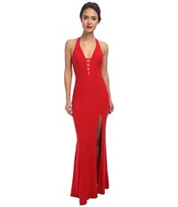 Faviana V Neck Chiffon Dress 7540 Red Women's Dress