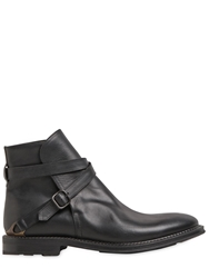 Fratelli Rossetti Oiled Leather Ankle Boots Black