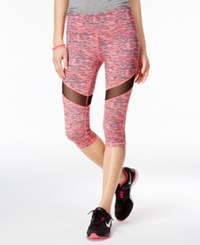 Material Girl Active Juniors' Printed Mesh Trim Cropped Leggings Only At Macy's Fruity Spacedye