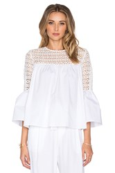 Endless Rose Louvre Top White
