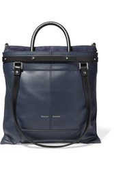 Proenza Schouler Ps19 Small Two Tone Leather And Suede Tote Navy