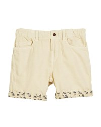 Mayoral Cotton Blend Shorts W Safari Print Cuffs Size 12 36 Months Beige