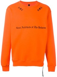 Omc Embroidered Sweatshirt Yellow Orange