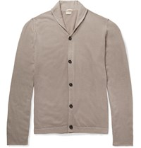 Massimo Alba Watercolour Dyed Shawl Collar Cashmere Cardigan Gray
