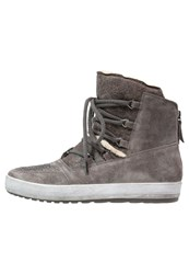 Gabor Laceup Boots Elephant Grey