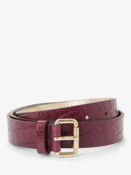 Boden Classic Croc Leather Belt Ruby