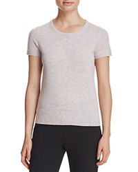 Bloomingdale's C By Short Sleeve Cashmere Sweater Cement