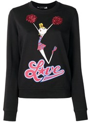 Love Moschino Cheerleader Doll Sweatshirt Black