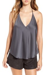 Astr Women's Satin T Back Camisole