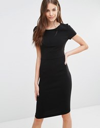 Sisley Fitted Pencil Dress 100 Black