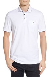 Ted Baker Men's London Clay Textured Collar Polo White