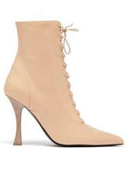Brock Collection X Tabitha Simmons Leather Ankle Boots Light Pink