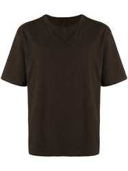 Unravel Project Back Print T Shirt Brown