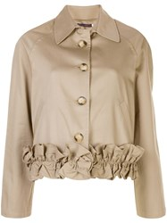 Harvey Faircloth Frill Hemmed Buttoned Jacket 60