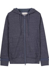 Adidas By Stella Mccartney Stretch Cotton Hooded Sweatshirt Navy