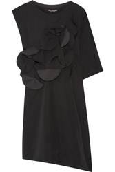 Junya Watanabe Appliqued Cutout Wool Twill Dress Black