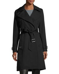 French Connection Draped Belted Trench Coat Black