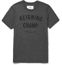 Reigning Champ Printed Cotton Jersey T Shirt Charcoal
