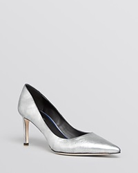 Elie Tahari Pointed Toe Pumps Destry High Heel Pewter Gunmetal