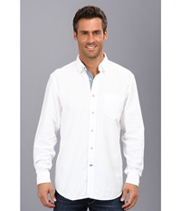 Nautica Solid Oxford L S Woven Shirt Bright White Men's Long Sleeve Button Up