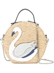 Christian Siriano Swan Patch Tote Bag Nude And Neutrals