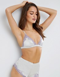Asos Skye Satin And Lace Triangle Bra Mint Green