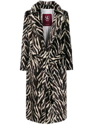 Simonetta Ravizza Belted Animal Print Coat 60