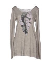 Pagano Topwear T Shirts Women Light Grey
