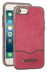 Rebecca Minkoff Leather Iphone 7 Slider Case Pink Soft Berry Suede