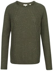 Fat Face Leona Cable Jumper Forest Green