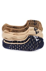 Sperry Men's 3 Pack Cushioned No Show Socks
