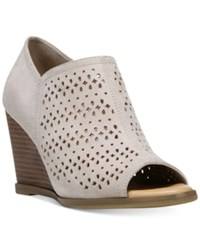 Dr. Scholl's Possibility Wedges Women's Shoes Taupe Microsuede