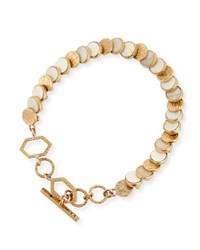 Akola Small Circle Disc Bracelet White