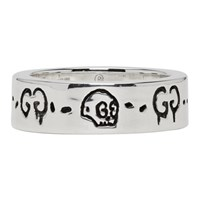 Silver Guccighost Ring
