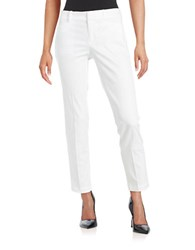 Lord And Taylor Cropped Stretch Pique Pants White