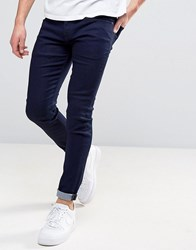 Pepe Jeans Finsbury Skinny Fit In Rinse Wash Indigo Blue