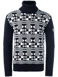 Rossignol 'Factory' Roll Neck Sweater Blue