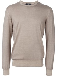 Fay Crew Neck Sweater Nude And Neutrals
