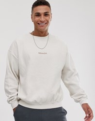 New Look Sweat With Nevada Print In Stone