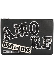 Dolce And Gabbana Limited Edition Amore Clutch Black
