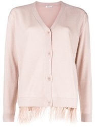 P.A.R.O.S.H. V Neck Cardigan Nude And Neutrals