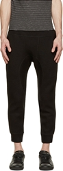 Neil Barrett Black Neoprene Slim Lounge Pants