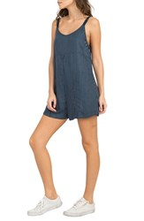 Rvca Jury's Out Zigzag Romper Navy