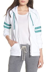 Alternative Apparel Adrian Throwback Zip Hoodie Eco White Eco Green